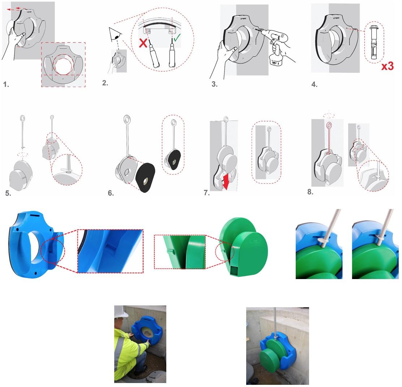 Régulateur débit plastique montage 02