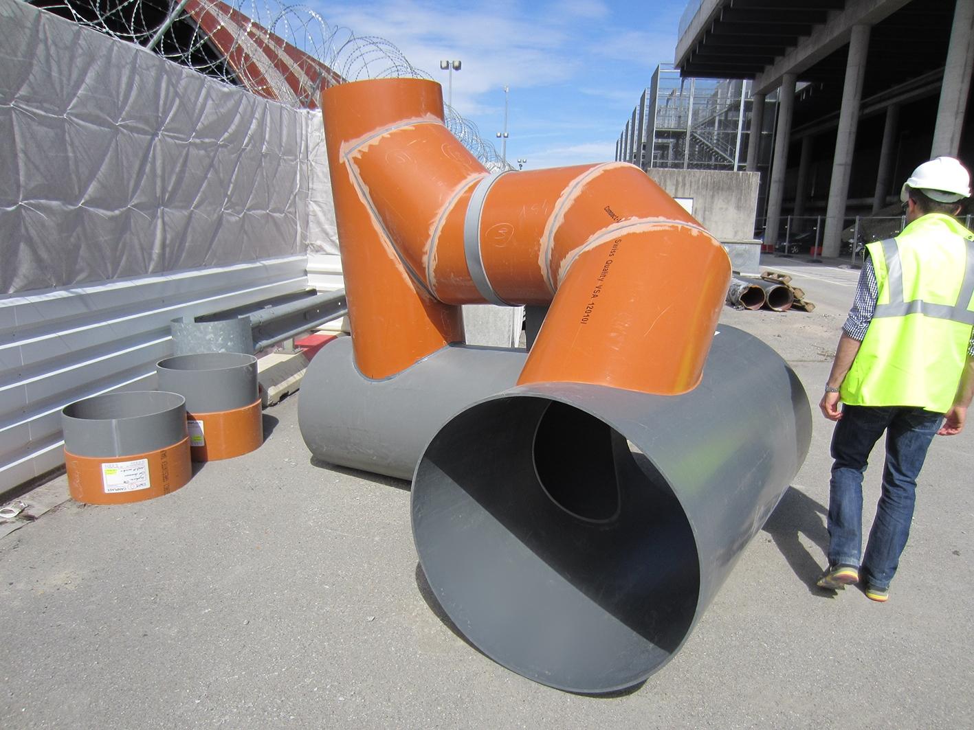 Pipe de chute PVC 02