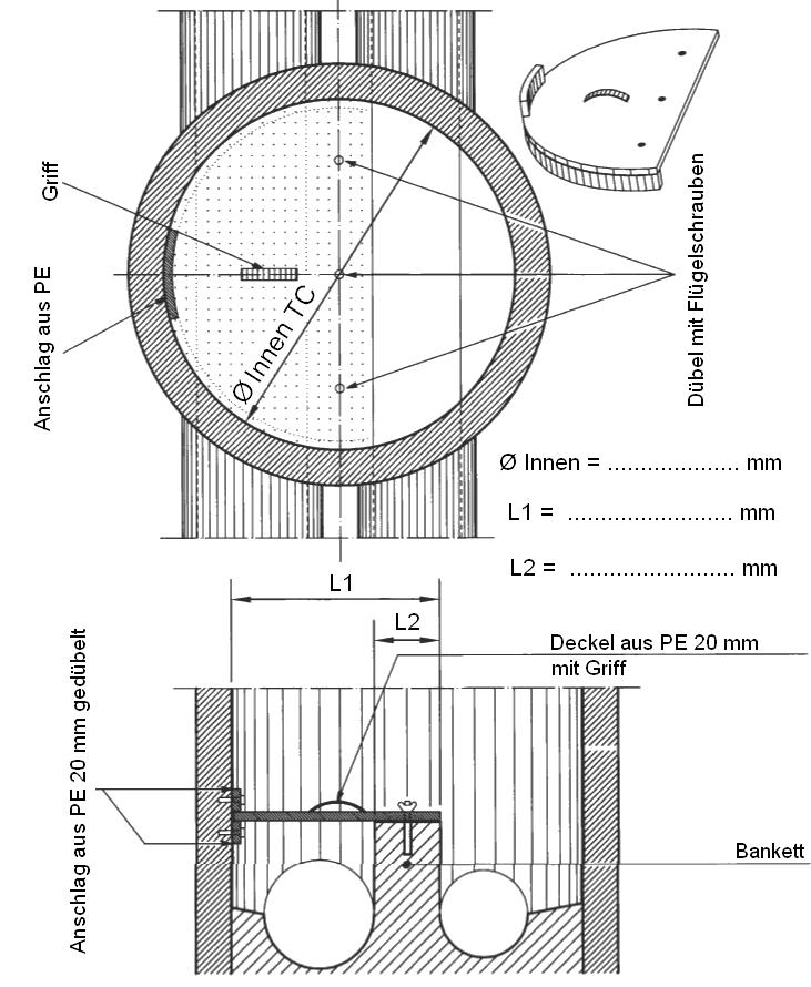 Couvercle amovible - Schéma de principe